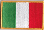 Italy Embroidered Flag Patch, style 08.